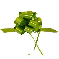 Decorative Gift Pull Bows, 5″ Wide, Set of 10, Olive Moss Green, Fall, Thanksgiving, Chris ...