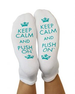 "Kindred Bravely Labor and Delivery Inspirational Fun Non Skid Push Socks for Maternity -""K ..."