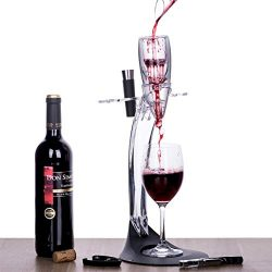 Tirrinia Wine Aerator Stand Set, Wine Accessories Tower Holder Kit, Includes Wine Decanter Aerat ...