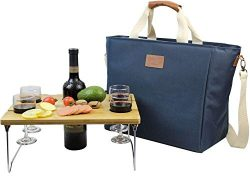 INNO STAGE 40L Cooler Bag, Large Insulated Tote Wine Carrier Bag for Picnic Lunch with Portable  ...