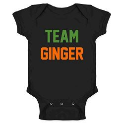 Pop Threads Team Ginger Funny St. Patrick's Day Funny Cute Redhead Black 12M Infant Bodysuit