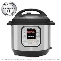 Instant Pot DUO60 6 Qt 7-in-1 Multi-Use Programmable Pressure Cooker, Slow Cooker, Rice Cooker,  ...