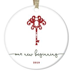 First Time Homeowners Ornament Christmas 2019 Keepsake Our New Beginning Housewarming Party Pres ...