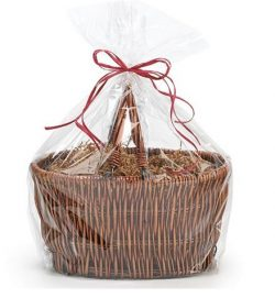 CakeSupplyShop Extra Large Jumbo Cellophane Bags Gift Basket- 30 x 40 Inch with Gift Tags – ...