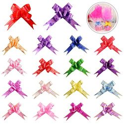 180PCS 18 Colors Gift Basket Pull Bows Knot Ribbon Present String Wrapping Decorative Bows for C ...