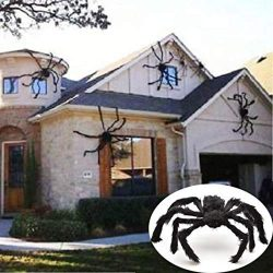 Ladiy Plush Spider Hanging Ornament Halloween Haunted House Decoration Gift Baskets