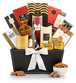 GiftTree Broadway Gourmet Sympathy Gift Basket | Premium Chocolate, Gourmet Cookies, Mixed Nuts  ...