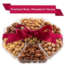 Holiday Nuts Christmas Gift Basket | Fresh Sweet & Salty Dry Roasted Gourmet Nuts | Fantasti ...