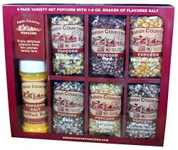Amish Country Popcorn – 6 (4 Ounce Bags) With Buttersalt Variety Gift Sets – Old Fas ...