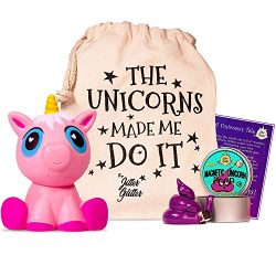 Magnetic Unicorn Putty Stress Relief Kit – Jumbo Pink Unicorn Squishy and Magnetic Putty w ...