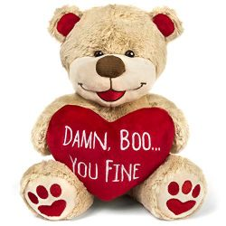 Valentines Bear – 8 Inches Tall – Funny for Girlfriend, Boyfriend, Husband or Wife
