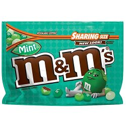 M&M'S Mint Dark Chocolate Candy Sharing Size 9.6-Ounce Bag (Pack of 8)