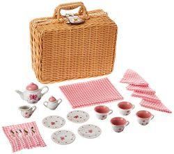 Butterfly Tea Set Basket