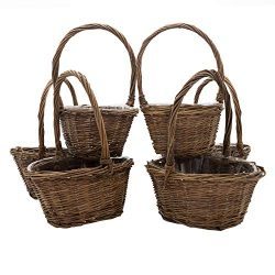 Royal Imports Oval Shaped -Small- Willow Handwoven Easter Basket 9″(L) x7(W) x3.5(H) (10.5 ...