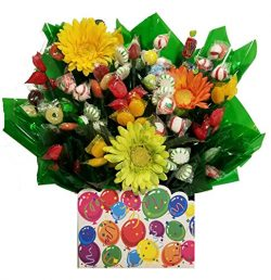Celebrate Party Gift Box with Hard Candy Bouquet – Great as a Birthday, Thank You, Get Wel ...