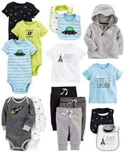 Carter's Baby Boys' 15-Piece Basic Essentials Set, Space, 9 Months
