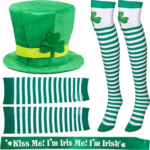 Chuangdi 6 Pieces St. Patrick's Day Parade Costume Accessories, St. Patrick's Day Ha ...