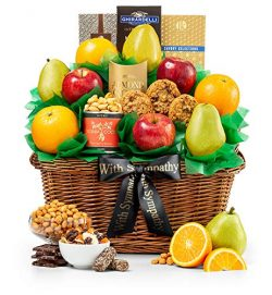 GiftTree Sympathy Five Star Fruit Gift Basket | Fresh Fruit Includes Pears, Apples, Juicy Orange ...