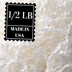 Crinkle Cut Paper Shred Filler for Packing and Filling Gift Baskets, Natural Craft Bedding in Br ...