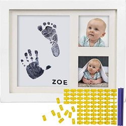 Baby Ink Hand and Footprint Kit – Handprint Picture Frame for Newborns (Safe Clean-Touch I ...