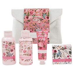 Draizee Spa Luxurious Home Relaxation Lovely Fragrance Gift Bag for Woman (Jasmine and Lily, 4 P ...