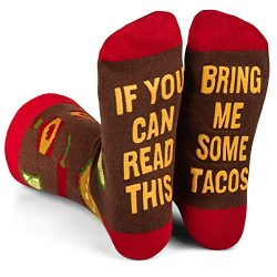 Lavley – Mens Novelty Socks – Funny Novelty Dress Socks For Men and Women (Taco)
