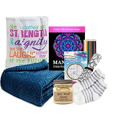 Get Well Gift for Women – Get Well Soon Basket with an Ultra Plush Blanket, Tea, Get Well  ...