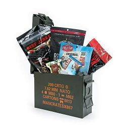 Man Crates Premium Jerky Ammo Can – The Ultimate Gift for Meat Lovers – Includes 3 B ...