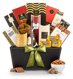 GiftTree Broadway Gourmet Get Well Gift Basket | Premium Chocolate, Gourmet Cookies, Mixed Nuts  ...