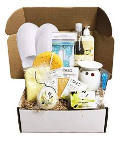 Golden Gift Box- 15 Pieces Luxury Spa Gift Baskets for Women -Vanilla, Lavender or Eucalyptus Sp ...
