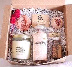 Thinking of You Spa Gift Basket, Sympathy Spa Gift Set, Organic Spa Gift Set for Women