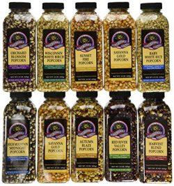 Gourmet Popping Corn – Case of 15 oz. bottles, A Variety Pack of 10 bottles