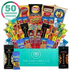 The Care Crate Man Box Ultimate Men's Snack Box Care Package ( 50 piece Snack Pack ) Chips ...