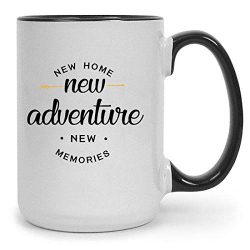 New Home 15 oz Ceramic Coffee Mug | Premium House Warming Party Present Lettered Tea Cup | First ...