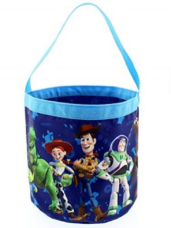 Toy Story 4 Boys Girls Collapsible Nylon Beach Bucket Toy Storage Tote Bag (One Size, Blue)