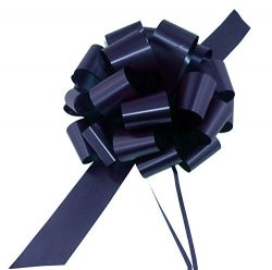 Large Navy Blue Ribbon Pull Bows – 9″ Wide, Set of 6, Police Support, Law Enforcemen ...