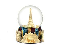 Alternative Gifts Paris France Eiffel Tower Snow Globe Pearlized Tone Eiffel 65mm