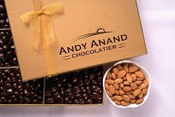 Andy Anand Sugar Free Milk Chocolate California Almonds, Delectable & Delicious,1 lb Gift Bo ...