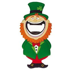 PVC Magnet with Leprechaun and Bottle Opener in Mouth Function
