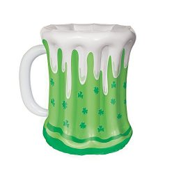 18″ St. Patrick's Day Beer Mug Inflatable Cooler