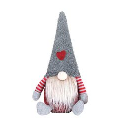 Iusun Tabletop Merry Christmas Decoration Faceless Doll Figurine Ornament Birthday Present Bedro ...