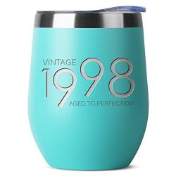 1998 21st Birthday Gifts for Women and Men Mint 12 oz Insulated Stainless Steel Tumbler | 21 Yea ...