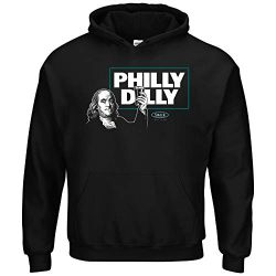 Philadelphia Football Fans. Philly Dilly T-Shirt (Sm-5X) (Black Hoodie, Medium)