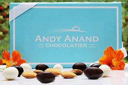 Andy Anand Premium Chocolate Coated Roasted Almond, A Medley of Milk, White and Dark Chocolate G ...