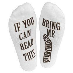 If You Can Read This Bring Me Some Chocolate Women's Novelty Socks Cute Fun Gift