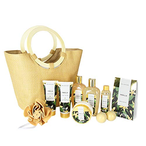 Spa Luxetique Vanilla Spa Gift Baskets for Women, Premium 10pc Gift Baskets, Best Holiday Gift S ...