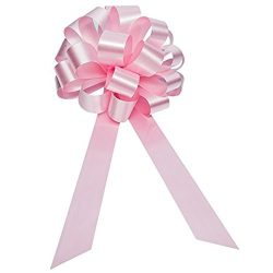 Baby Pink Gender Reveal Ribbons – 8″ Wide, Set of 6, Pull Bows, Valentine's Da ...