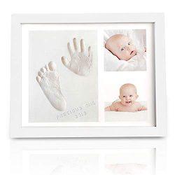 Baby Handprint Footprint Keepsake Kit – Baby Prints Photo Frame for Newborn – Baby N ...