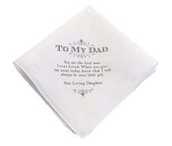 Lillian Rose Dad Wedding Gift White Cotton Keepsake Hankie