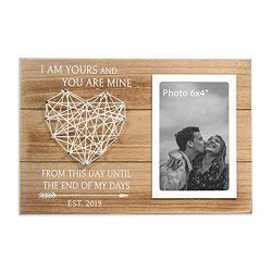 VILIGHT Bride Groom and Boyfriend Gifts – Engagement and Wedding Picture Frame – I L ...